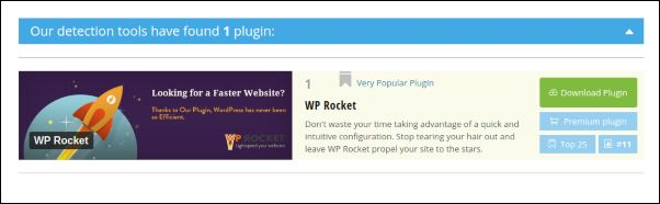 plugins detectados de una web wordpress