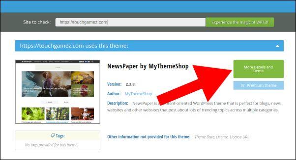 ver plantilla de WordPress de una web