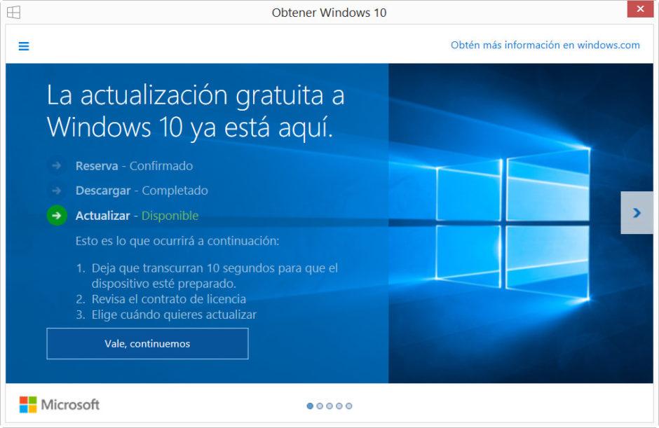 actualizar a windows 10
