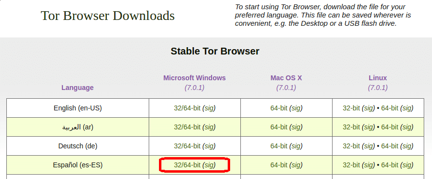 descargar tor browser