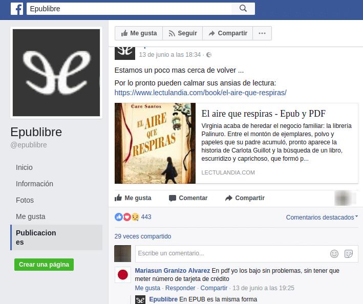 cuenta fake de epuplibre en facebook