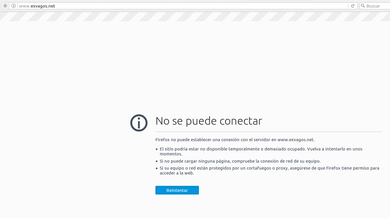 error exvagos net