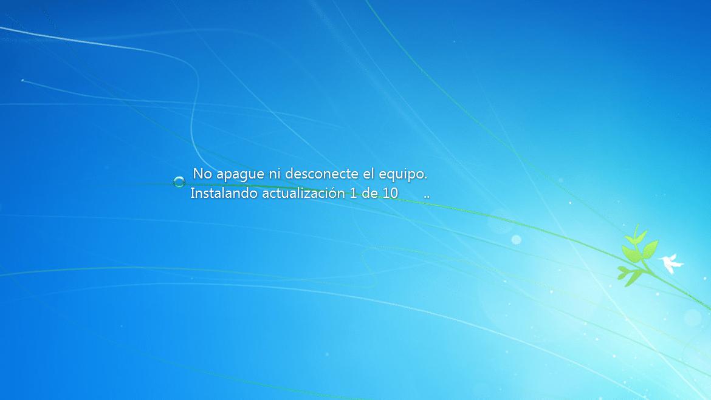 instalando actualizaciones de Windows 7