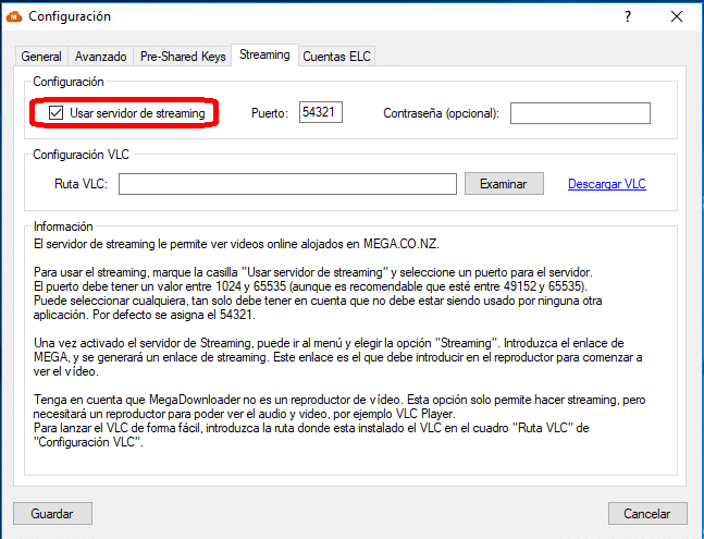 servidor streaming