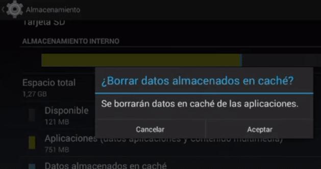 borrar datos almacenados en caché en Android