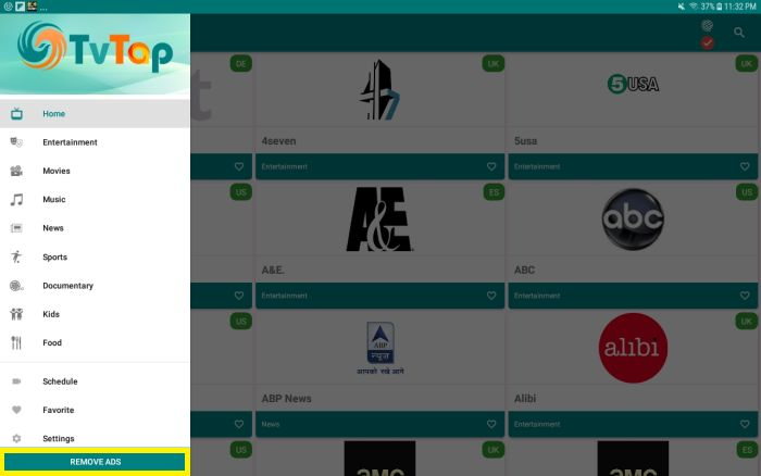 TvTap v2.2 (Android), v2.8 (Android TV): Canales de TV en VIVO 2