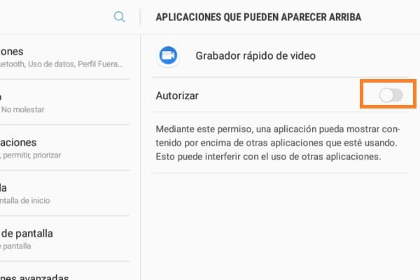 Grabar vídeo en Android con la pantalla apagada 3