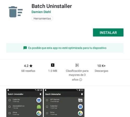 desinstalar varias aplicaciones a la vez en android