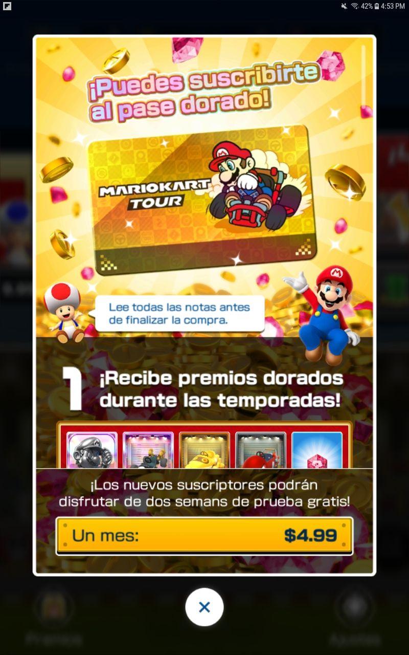 Mario Kart Tour para Android y iOS: Descarga v1.1.0 1