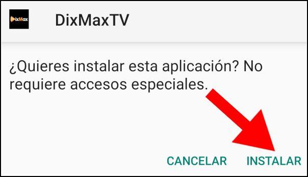 instalar DixMax TV