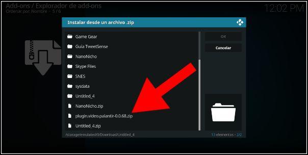 instalar palantir en Android