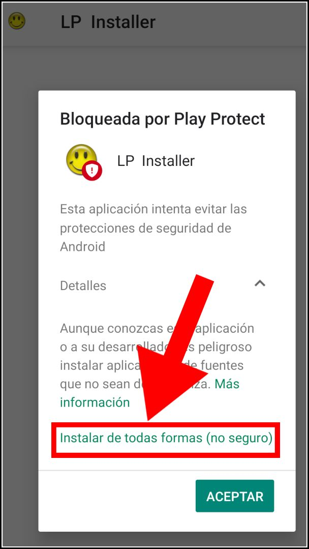 Play Protect bloquea la instalación de Lucky Patcher