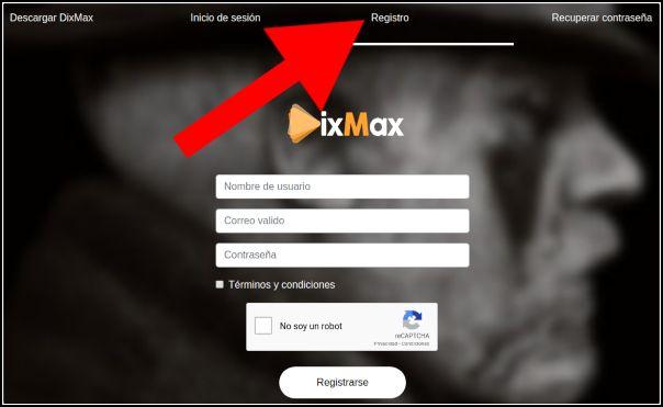 Registro DixMax TV