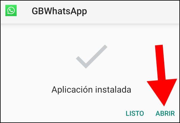 abrir GBWhatsApp