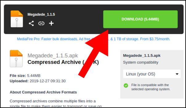descargar Megadede Android
