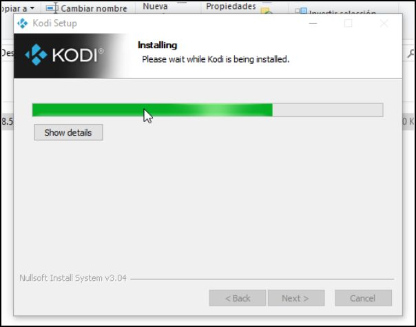 instalación Kodi en Windows