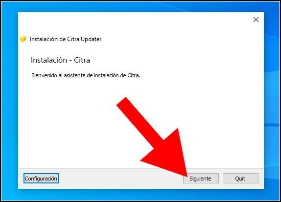 instalación de Citra en Windows