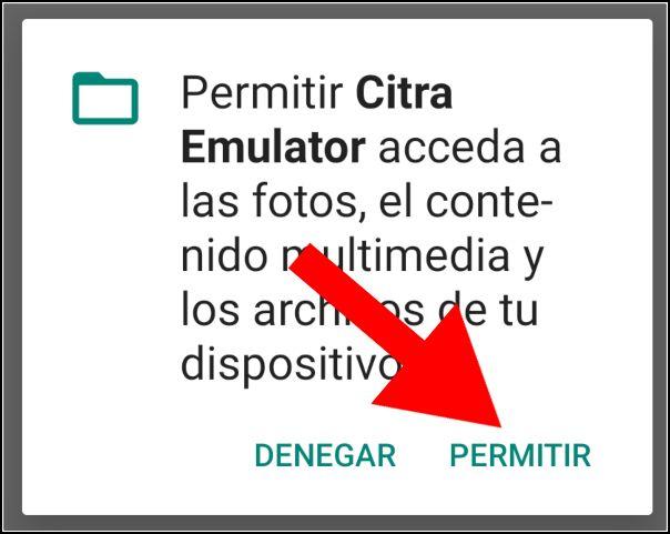 permisos Citra Android
