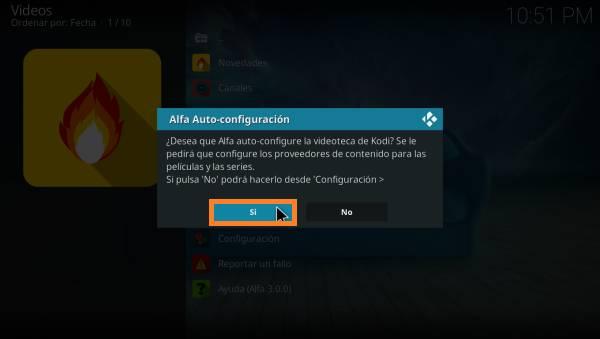 auto configuracion Alfa