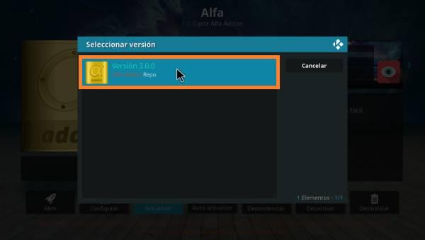 addon Alfa actualizado