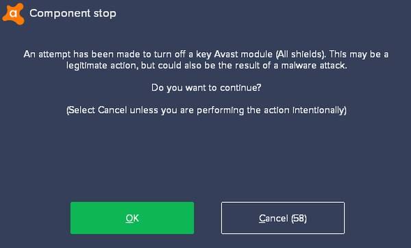 desactivar Avast