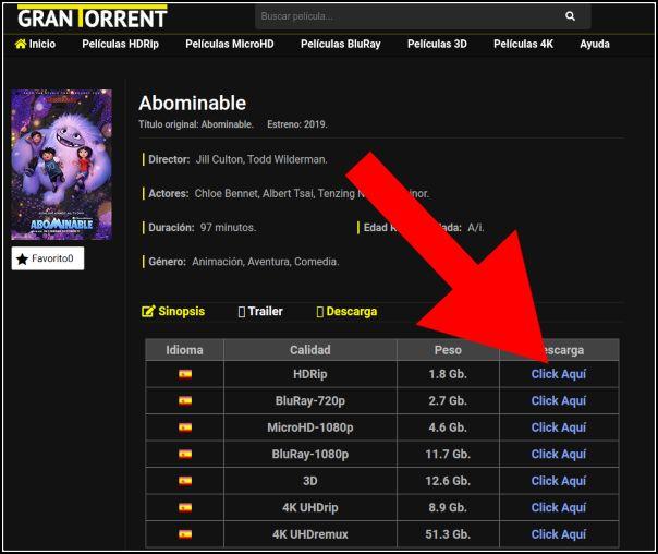 descargar películas Torrent