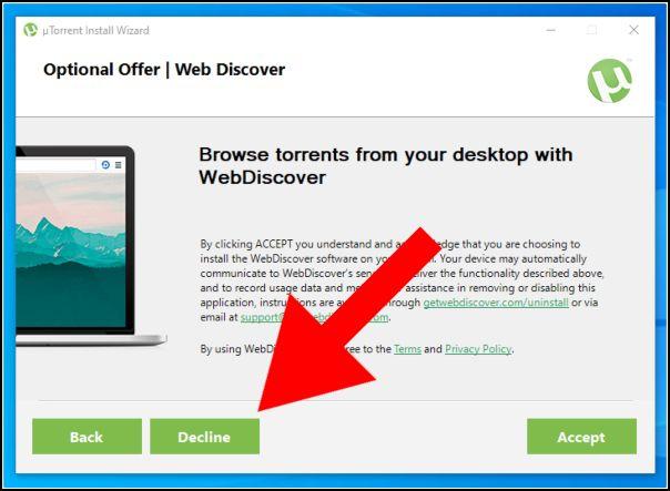 Evitar instalación de programa uTorrent