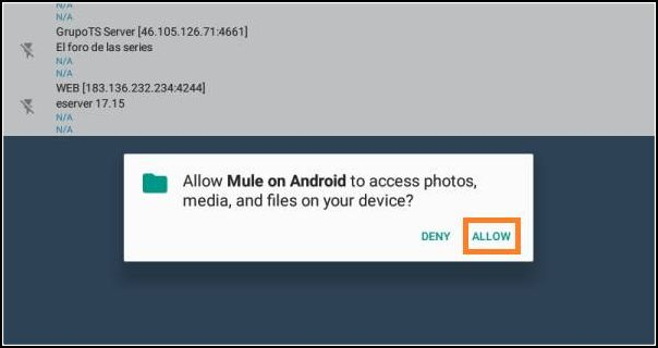 instalar mule android