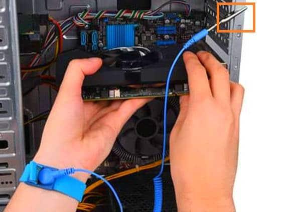 carga electroestática del PC