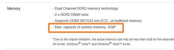 capacidad máxima memoria RAM