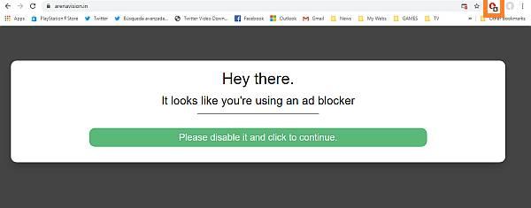 bloqueo de anuncios del navegador