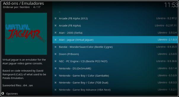 habilitar emuladores Libretro Linux