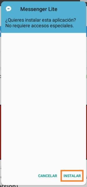 instalar Messenger Lite
