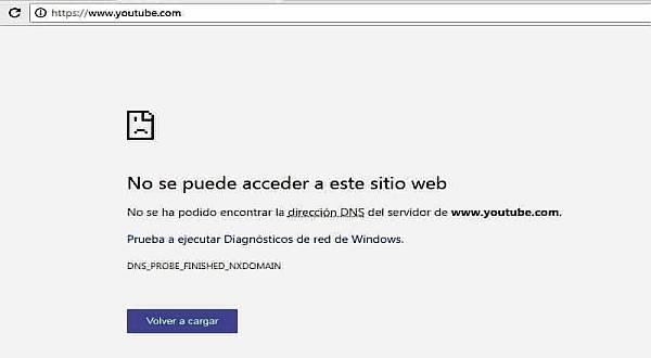 no se puede acceder a este sitio web