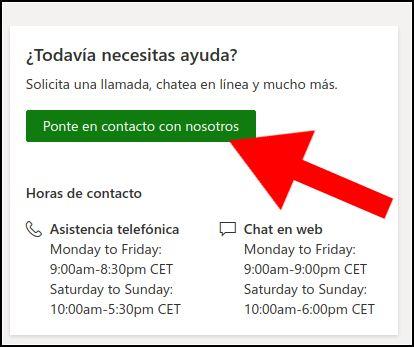 asistencia Microsoft