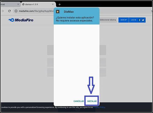 instalar Dixmax Android