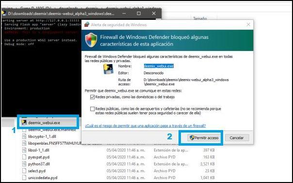 permitir acceso firewall Windows