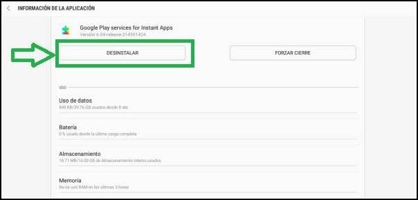 desinstalar Google Play Services