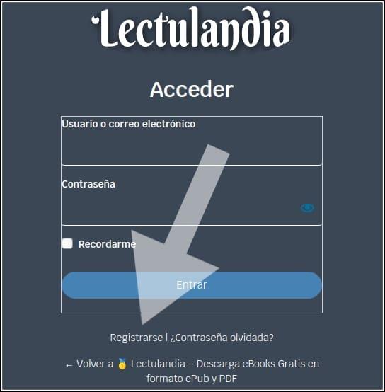 registro en Lectulandia