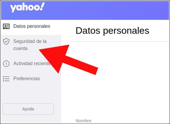 seguridad de la cuenta Yahoo