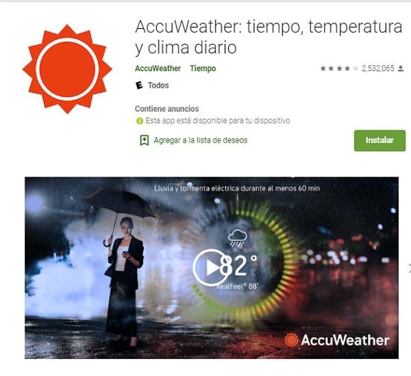 Mejores apps para medir temperatura ambiente_accuweather